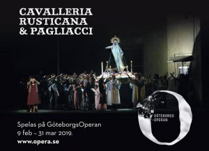 Informationsbild om operaföreställningen i Stora Saluhallen.