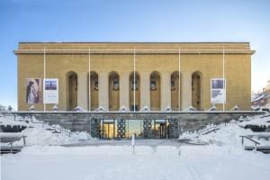 Götaplatsen, Konstmuseum, exteriör, vinter