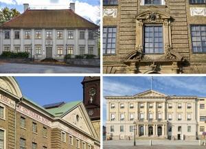 Gathenhielmska huset, Sahlgrenska huset, Ostindiska Huset och Rådhuset (klicka för större bild).