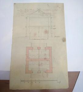Karta över huset från 1820-talet
