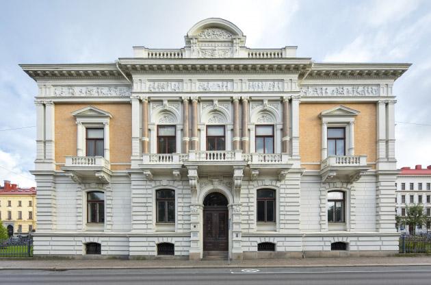 Utsidan av Wernerska Villan