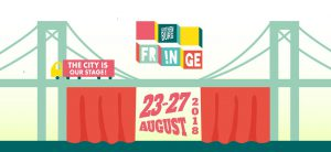 Grafisk annonsbild om Gothenburg Fringe Festival 23-27 augusti 2018