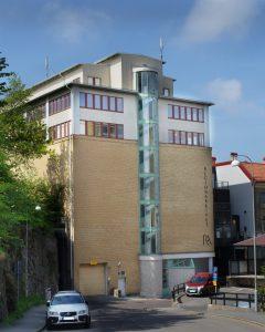 Regionarkivets fasad mot Otterhällegatan 5