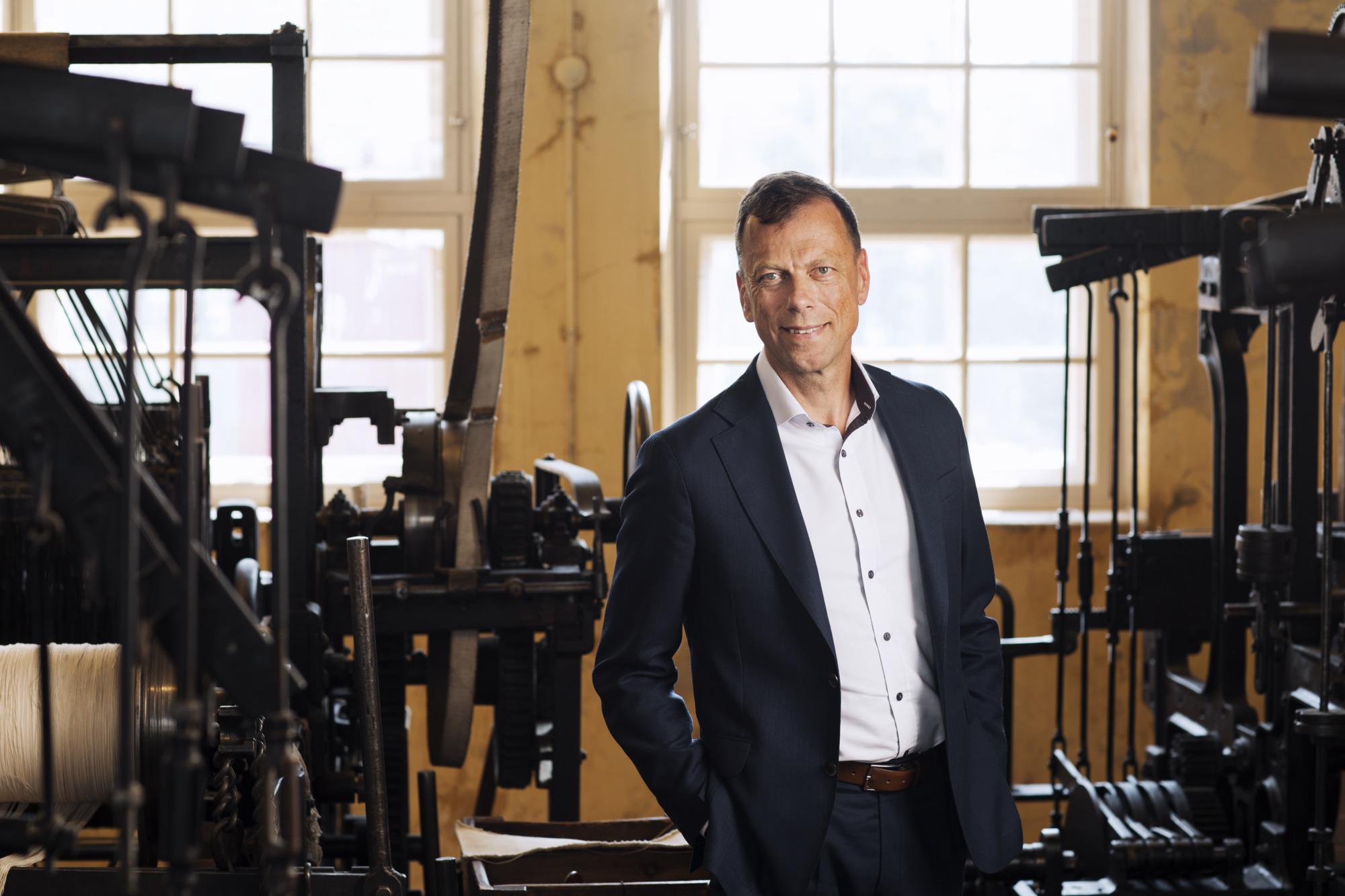 Higabs VD Christer Svärd inuti Remfabriken