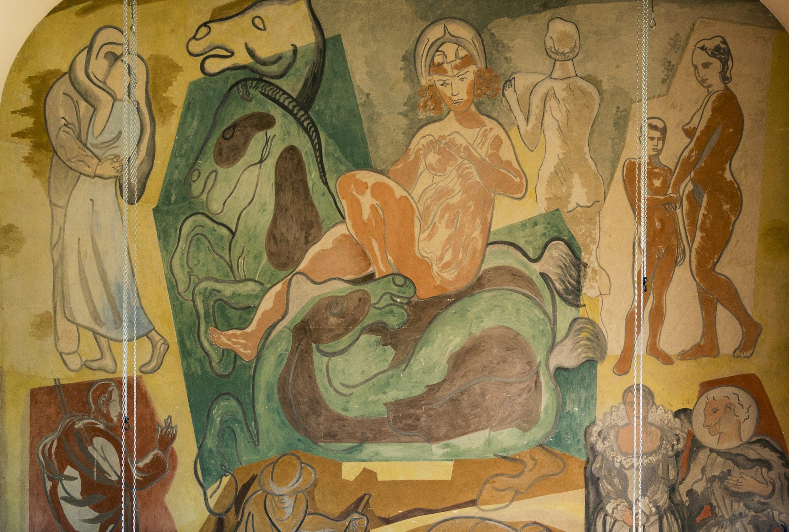 Al frescomålning inne på Stadsteatern.