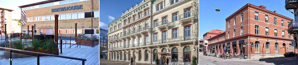 Exteriörbilder på Brewhouse, Hotel Eggers och Saluhall Briggen