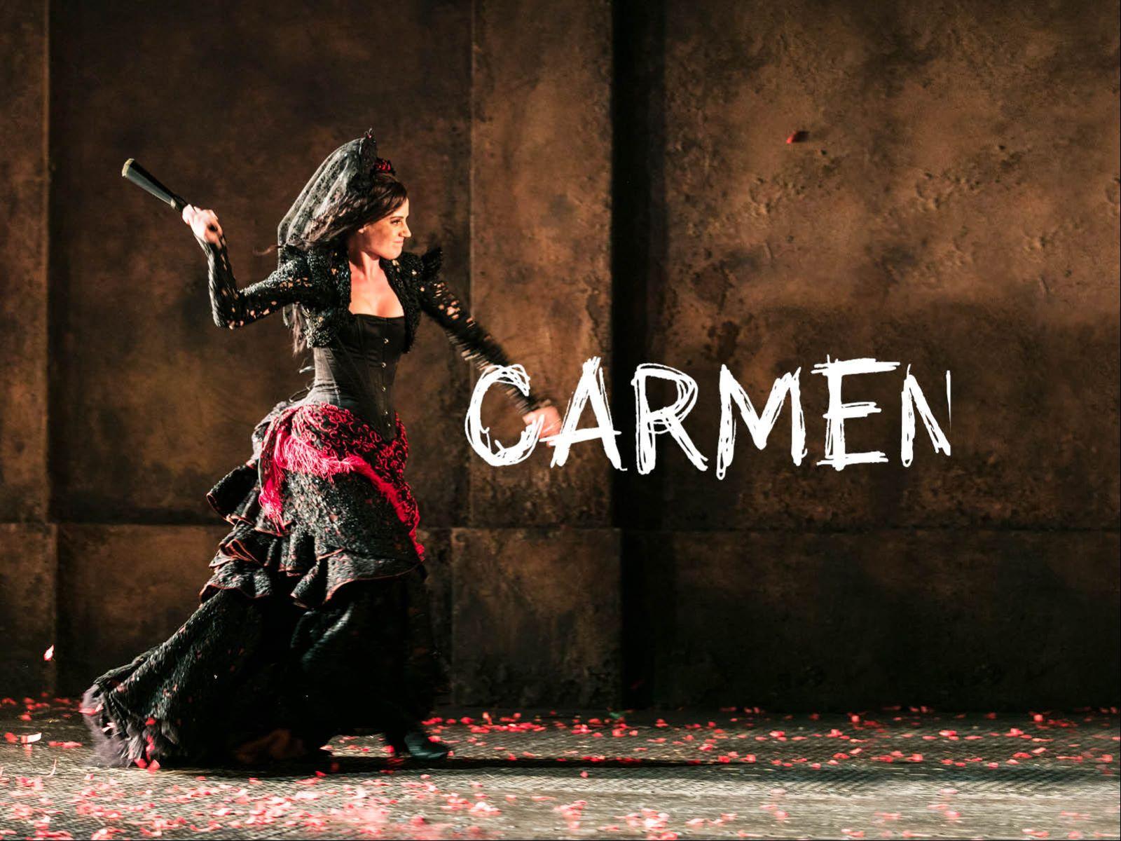 Marknadsföringsbild för operan Carmen