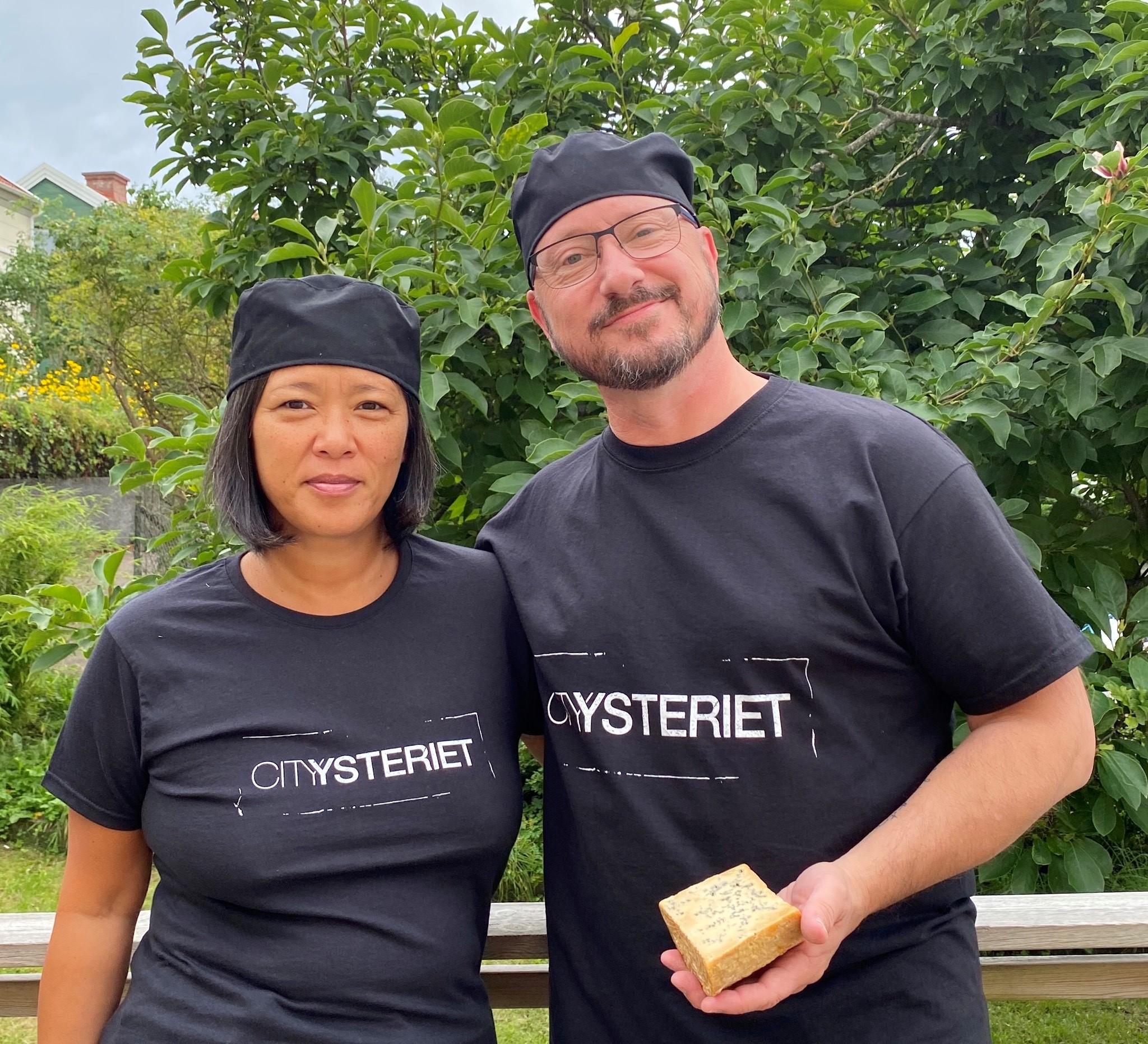 Jenny Vendin och Johan Rudh som driver Cityysteriet