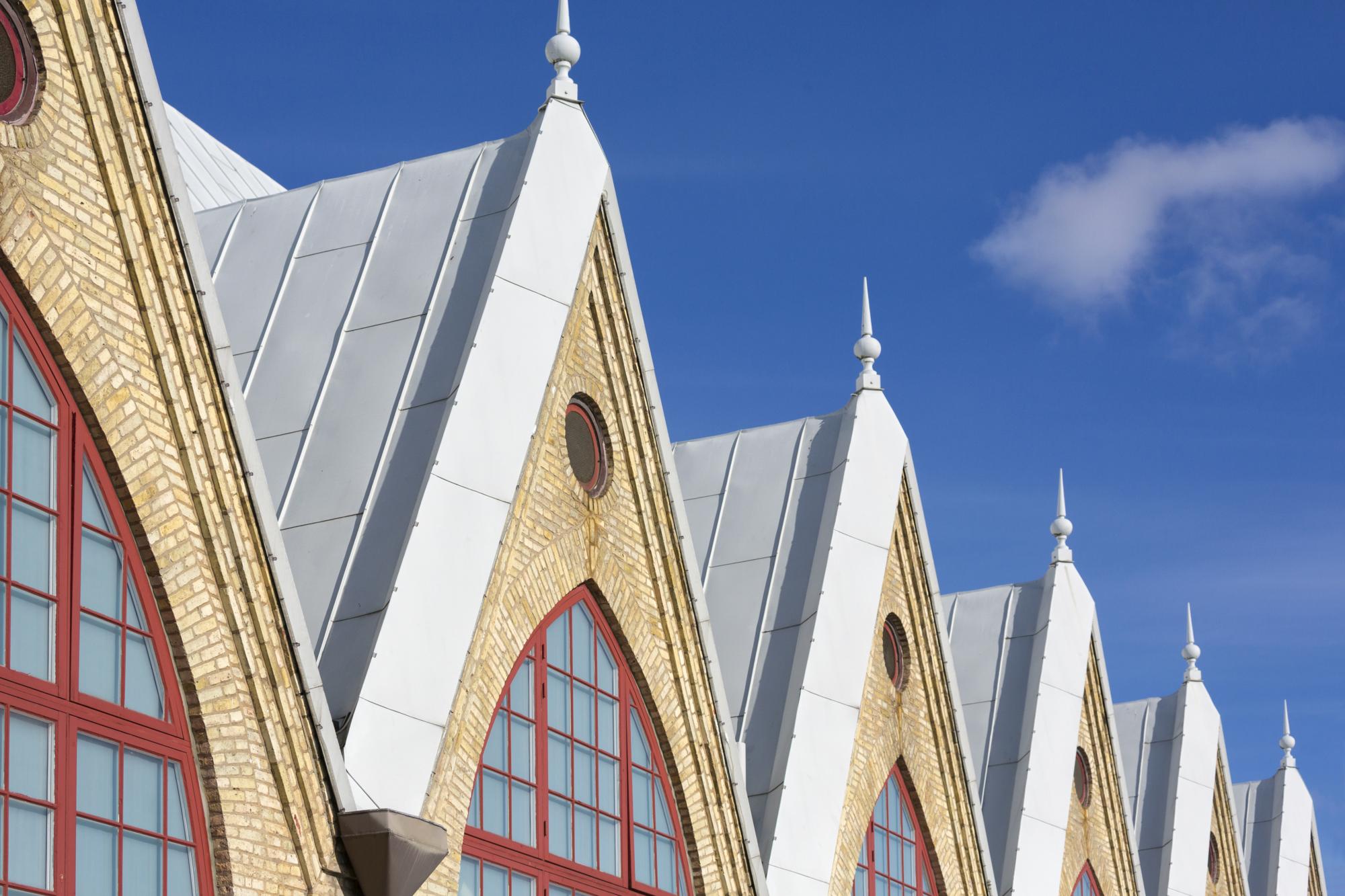Detaljbild på del av taket på Feskekôrka