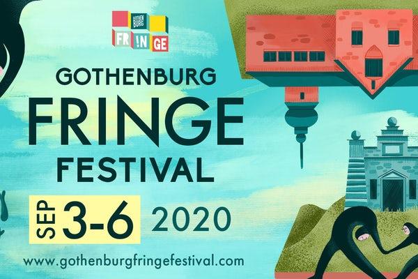Grafisk informationsbild om Gothenburg Fringe Festival 2020