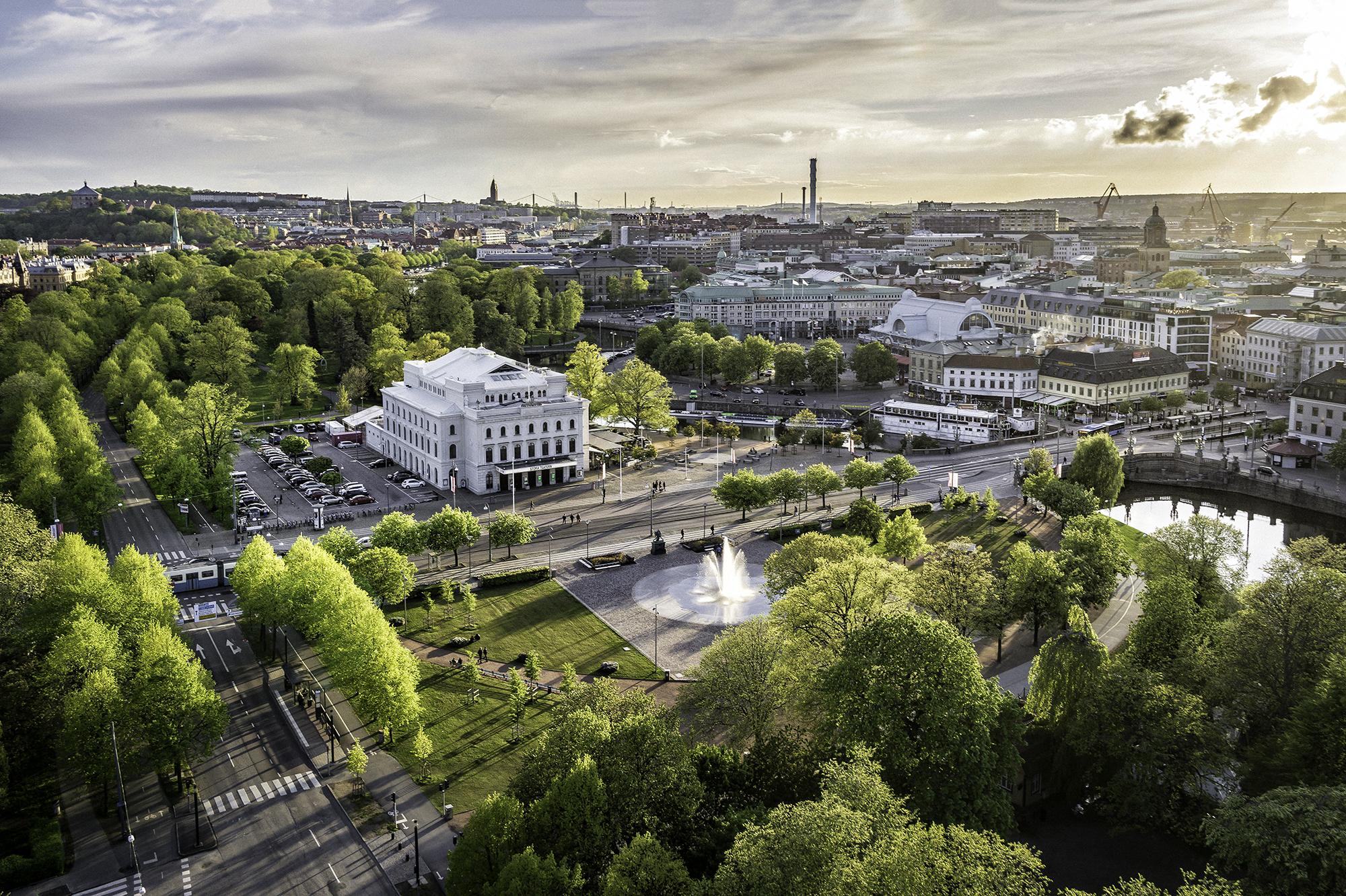 Utsikt över Göteborgs innerstad.