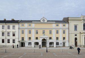 Framsidan av Stadshuset på Gustaf Adolfs Torg.
