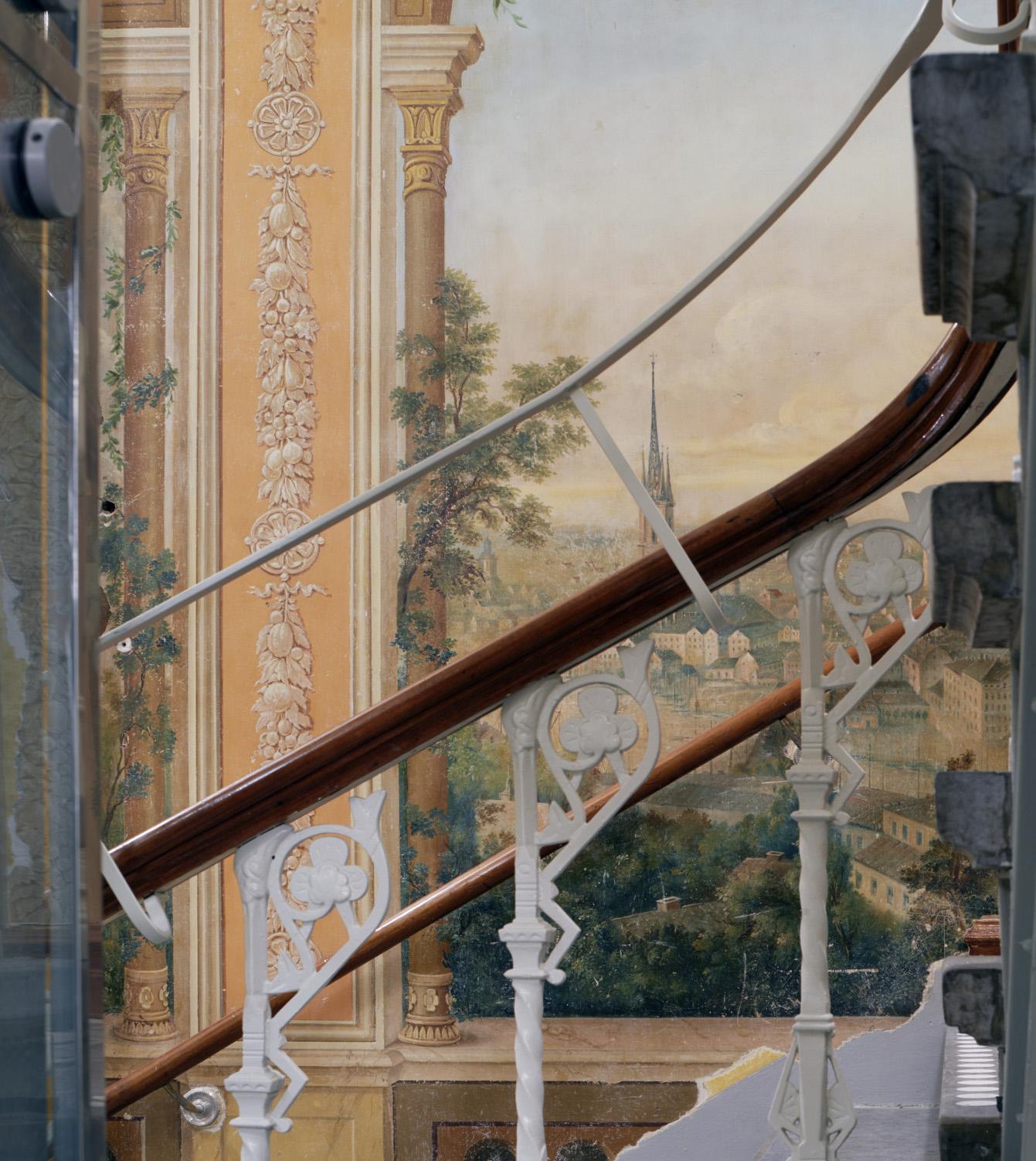 Dekormålning i trapphuset i Börsen