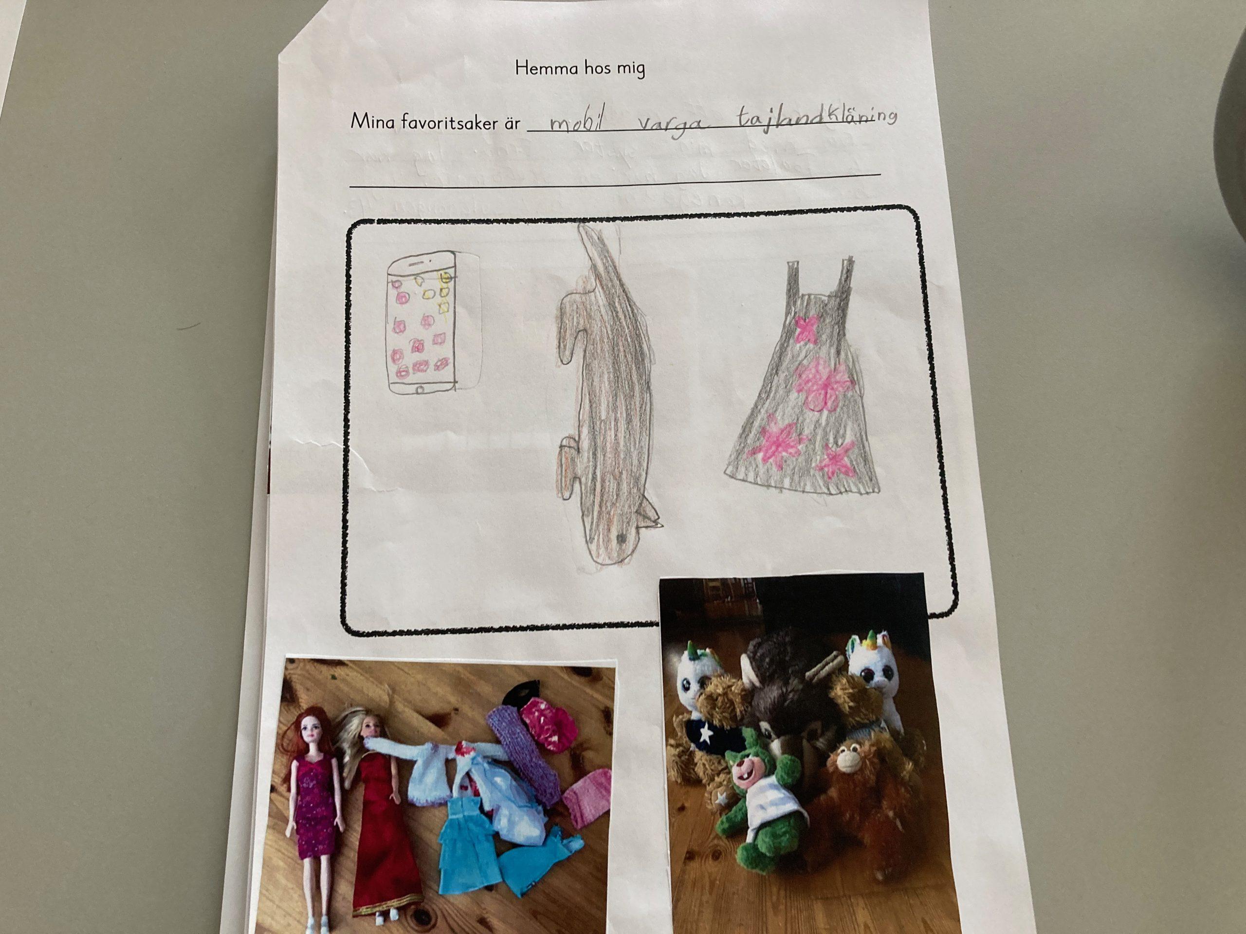 Teckning från skolbarn.