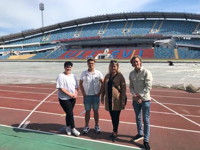 Fyra av Lisebergs handledare inne på Ullevi