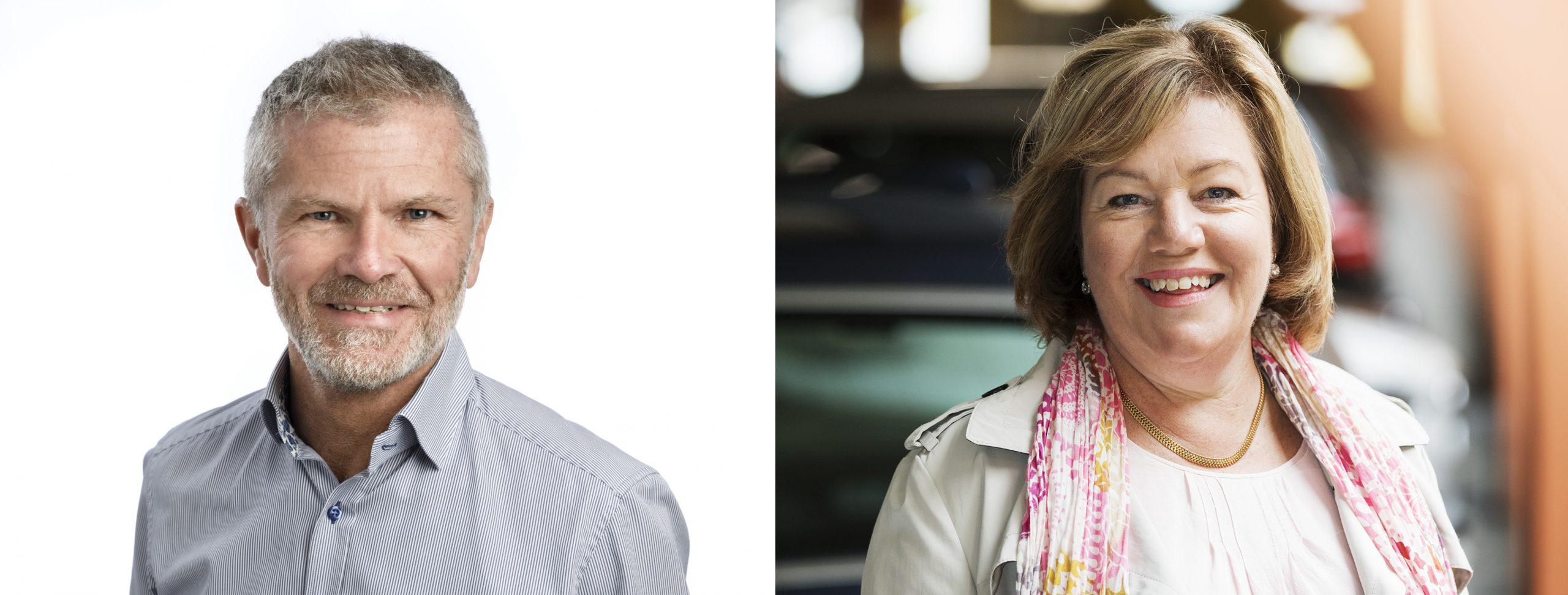 Porträttbilder på Per-Henrik Hartmann och Kristina Rejare.