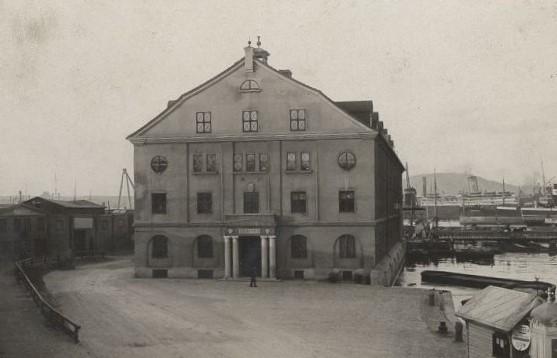 Framsidan av Lagerhuset vid Göta Älv