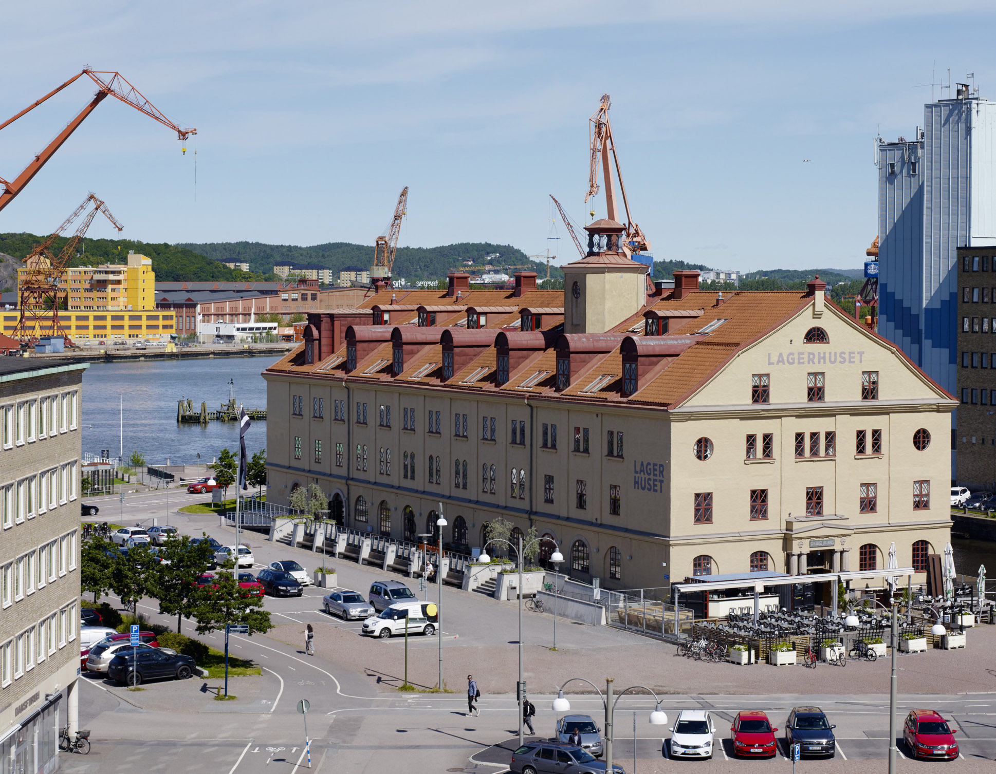 Vybild över Lagerhuset och Göta Älv