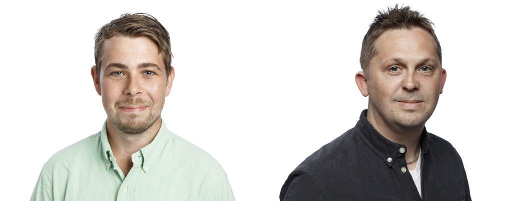 Higabs medarbetare Niklas Johansson och Fredrik Berggren
