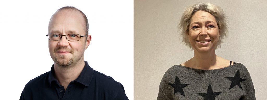 Higabs nya medarbetare Johan Sahlén och Johanna Arvidsson.