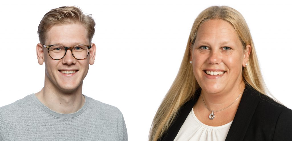 Porträttbilder på Patric Johansson och Lina Lundquist.