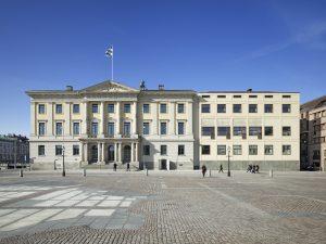 Entréfasaden till Rådhuset på Gustaf Adolfs Torg