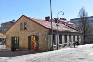 Utsidan av tegelbyggnaden Spruthuset.