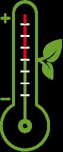 En tecknad termometer.