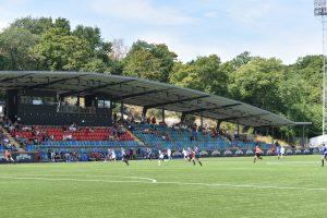 Fotbollsmatch på Valhalla Idrottsplats.