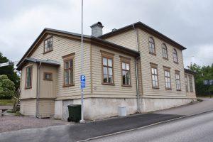 Utsidan av trähuset Villa Majviken.