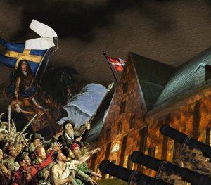 Marknadsföringsbild för den dramatiserade vandringen om Kronhusets historia