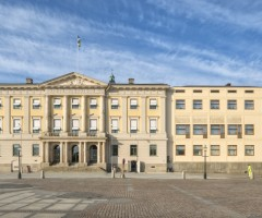 Framsidan av Rådhuset på Gustaf Adolfs Torg.