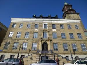 Utsidan av tegelbyggnaden Sahlgrenska Huset.