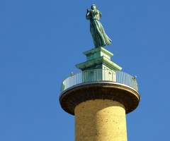 Skulpturen på toppen av Sjömanstornet.