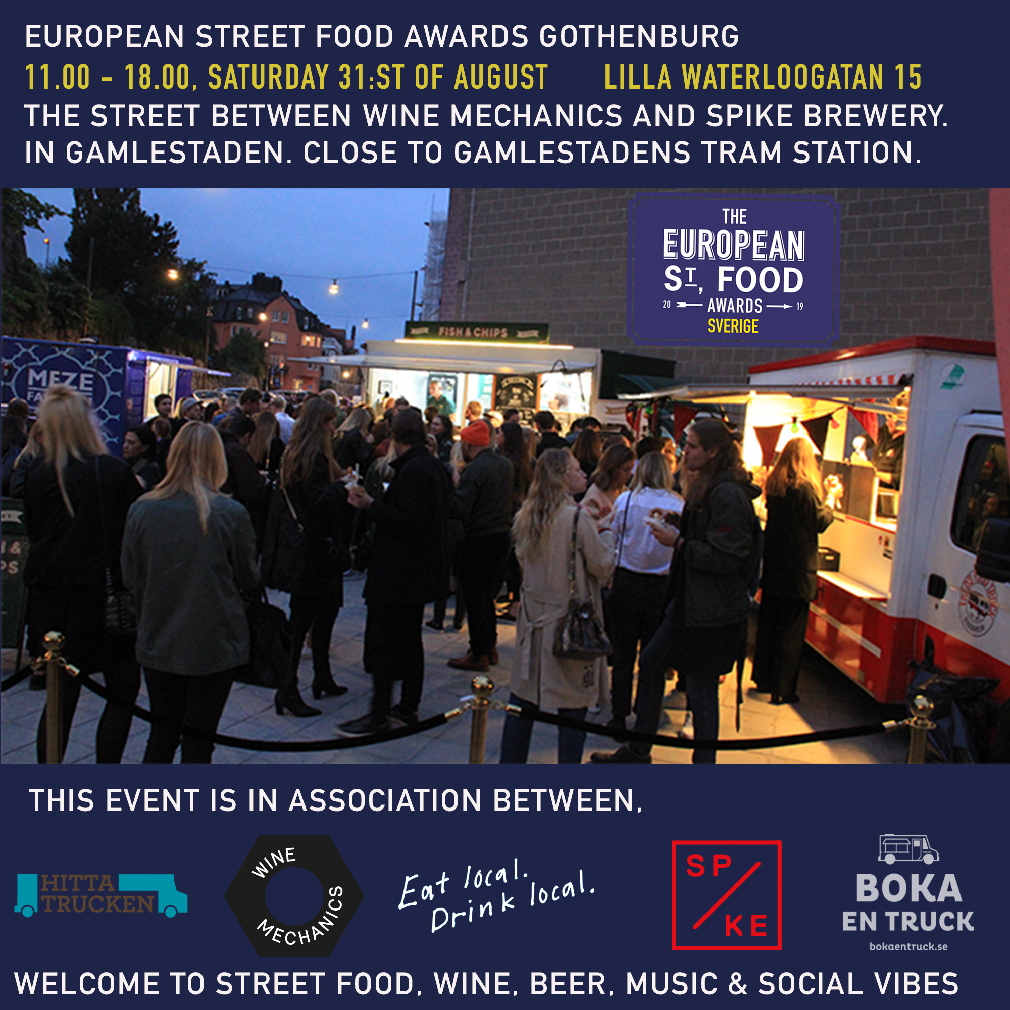 Marknadsföringsbild för European Street Fodd Awards Gothenburg