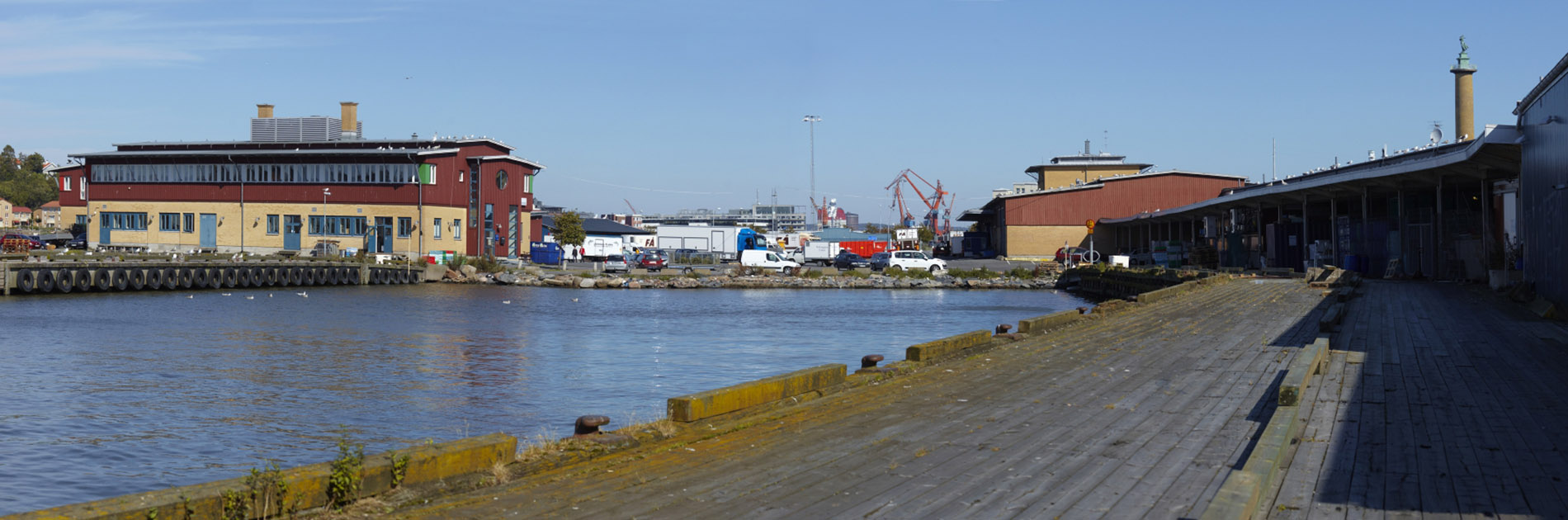 Utsikt över Fiskhamnen.