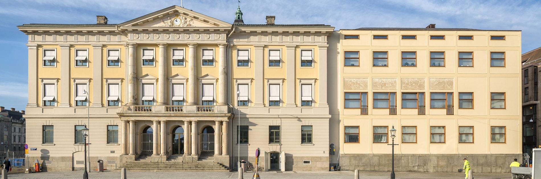 Framsidan av Rådhuset i Göteborg.