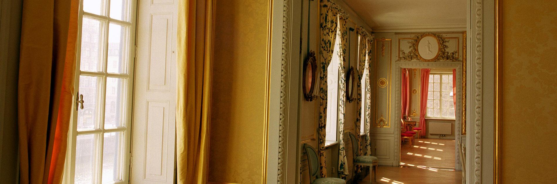 Bild på den påkostade och äldre interiören i Sahlgrenska Huset.